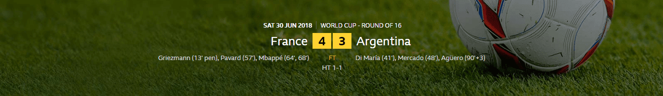 FIFA World Cup 2018: France 4-3 Argentina | Mbappe's Low Strike Puts France Back Into Lead