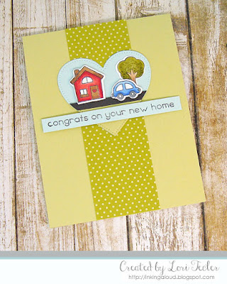 Congrats on Your New Home card-designed by Lori Tecler/Inking Aloud-stamps from Lawn Fawn