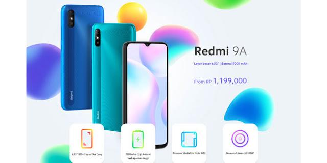 Spesifikasi lengkap Redmi 9A