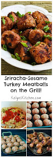Grilled Sriracha-Sesame Turkey Meatballs [from KalynsKitchen.com]