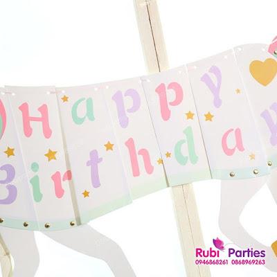 Day hinh ngua Happy Birthday