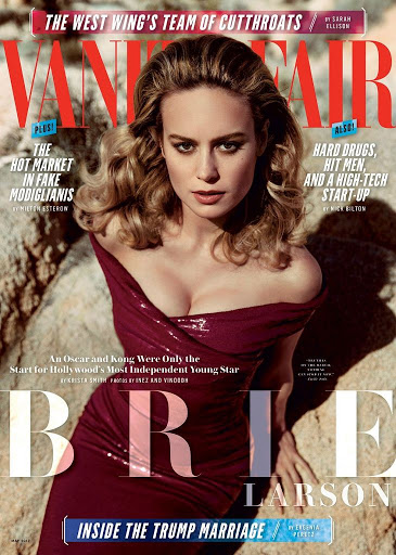 Brie Larson photoshoot Vanity Fair Magazine May 2017 cover issue