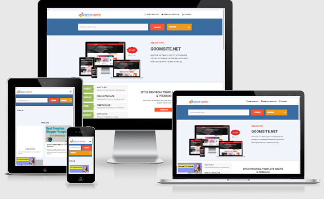 Goomsite AMP style 2 blogger template