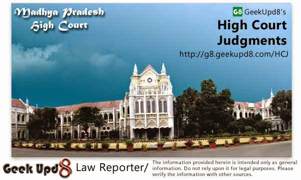 Madhya Pradesh High Court, Indore Judgments
