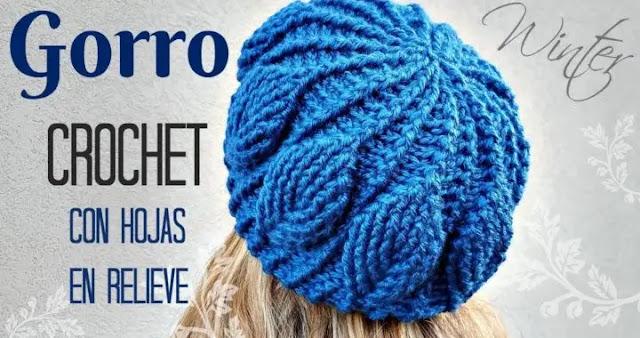 Tutorial de Gorro en Hoja 3D a Crochet