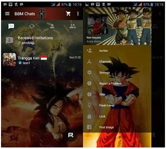 BBM Mod Dragon Ball Theme Based 3.0.0.18 Apk