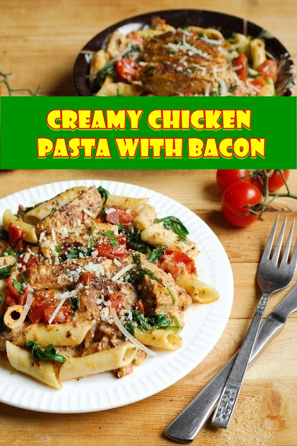 #CREAMY #CHICKEN #PASTA #WITH #BACON
