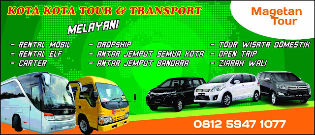 magetantourcom agen travel carter rental sewa mobil elf bus