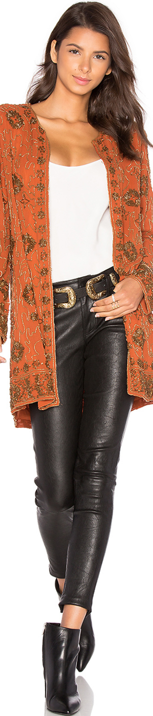 HOUSE OF HARLOW 1960 X Revolve Amber Embellished Coat