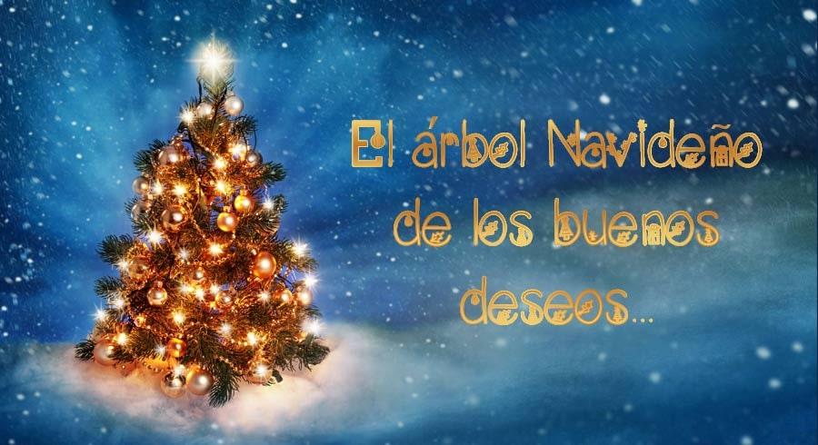 El árbol navideño de los buenos deseos...
