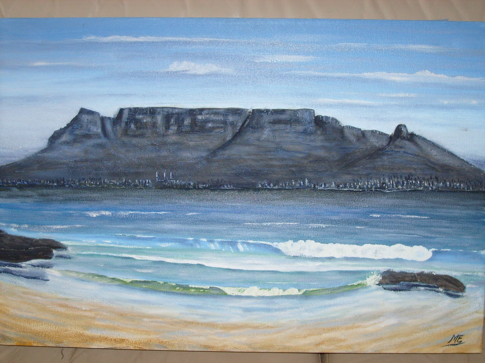 Painting Angels Table Mountain New Seven Wonders Of