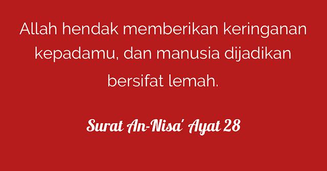 Tafsir Al Quran Surat An-Nisa Ayat 28