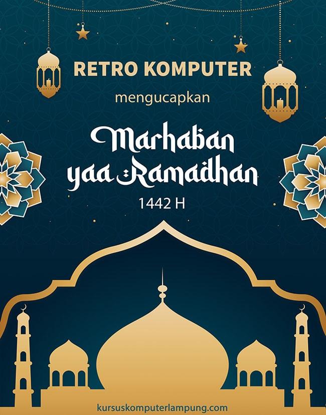 Marhaban ya Ramadhan Retro Komputer