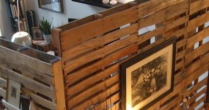 Mueblesdepaletsnet Biombo con palets de madera