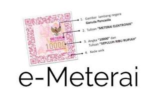 Harga Meterai Elektronik e-Meterei Mulai Berlaku