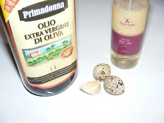 ulei de masline si ricin, usturoi si oua de prepelita, retete si preparate din ulei de ricin si masline usturoi si oua de prepelita,