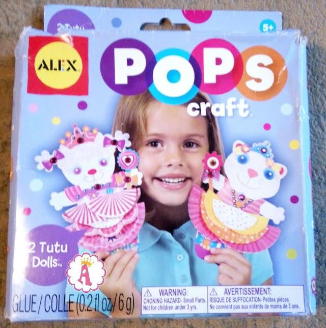 Куклы из бумаги Alex Toys Pops Craft с одеждой своими руками
