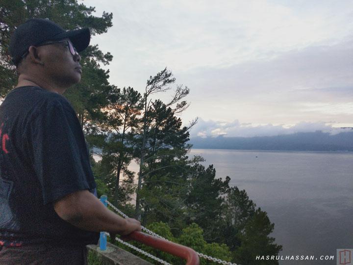 Pemandangan Tasik Danau Toba dari Hotel Patra Comfort Parapat