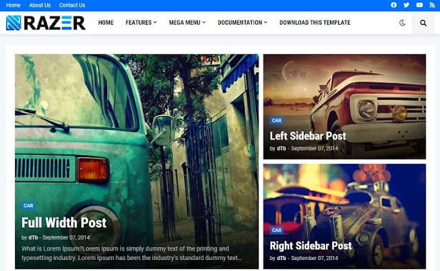 Razer Premium Blogger Template