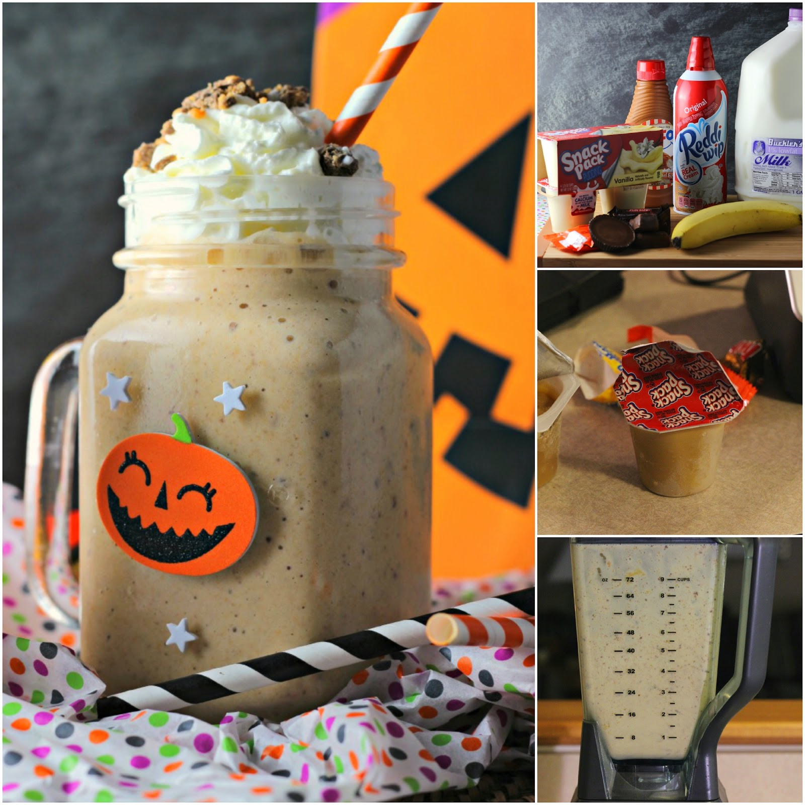 Making a Candy Bar Pudding Cup Smoothie #shop #snackpackmixins