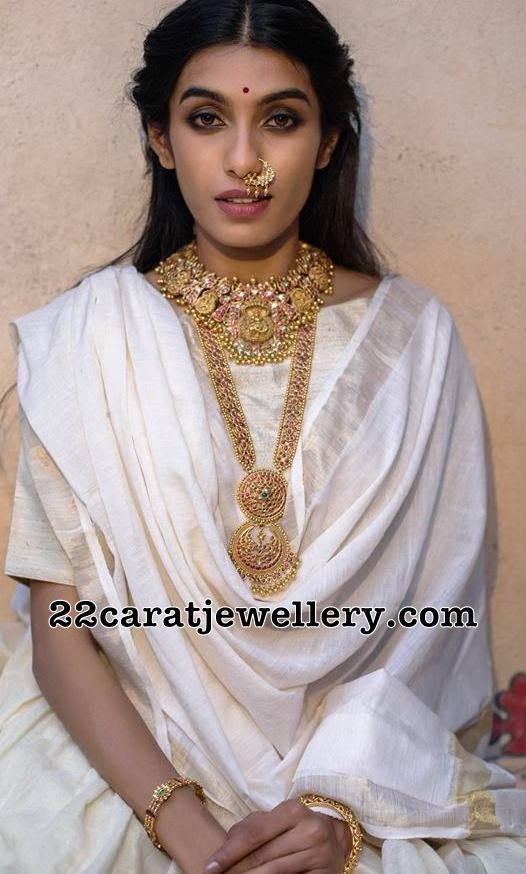 Model in Lakshmi Choker by Tibarumal