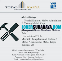 We Are Hiring at Total Karya Group Surabaya September 2020