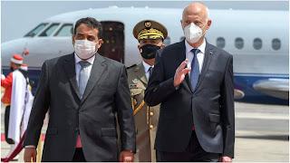 رئيس الجمهورية يستقبل رئيس المجلس الليبي السيد محمد المنفي