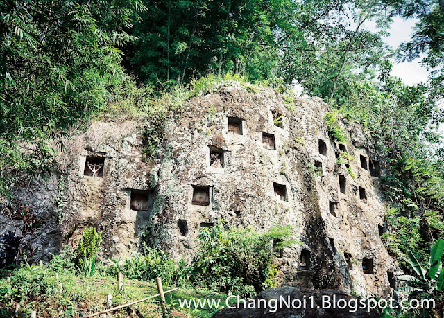Tana Toraja rock graves in Sulawesi, Indonesia