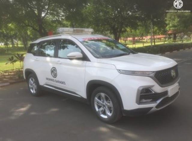 MG Motors has convert Hector SUV in ambulance.