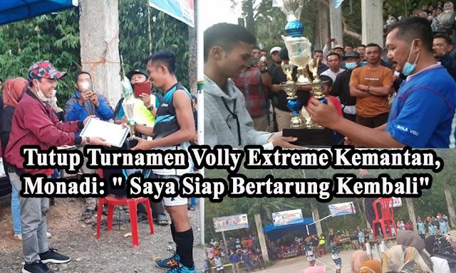 Tutup Turnamen Volleyball di Kemantan, Monadi Tegaskan Siap Kembali Maju di Pilbup Kerinci