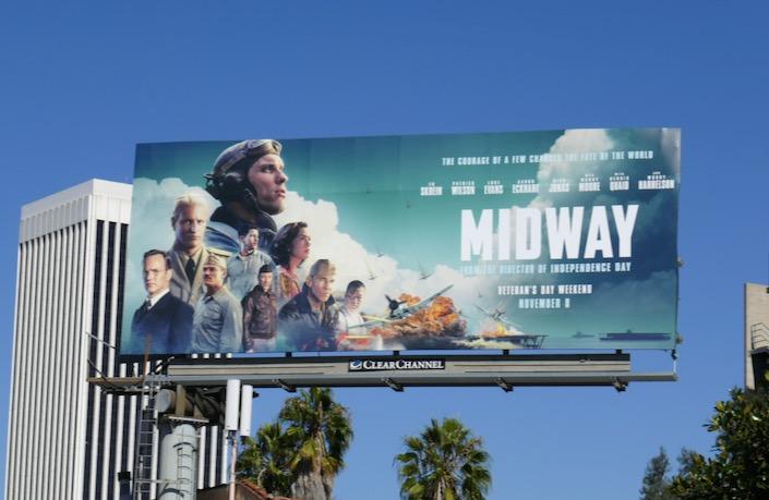 Midway film billboard