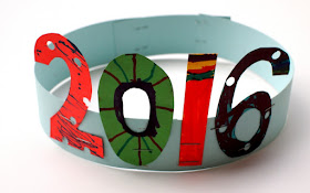 2016 New years Crown Craft for kids