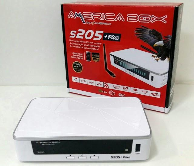 AMERICABOX S205 PLUS 1.65 NOVA ATUALIZAÇÀO V1.43 - 26/08/2020