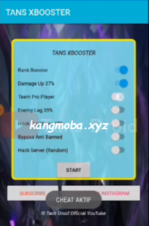 APK MOD Tans XBooster (Damage Up + Enemy Lag) Mobile Legends