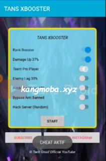 APK MOD Tans XBooster (Damage Up + Enemy Lag) Mobile Legends