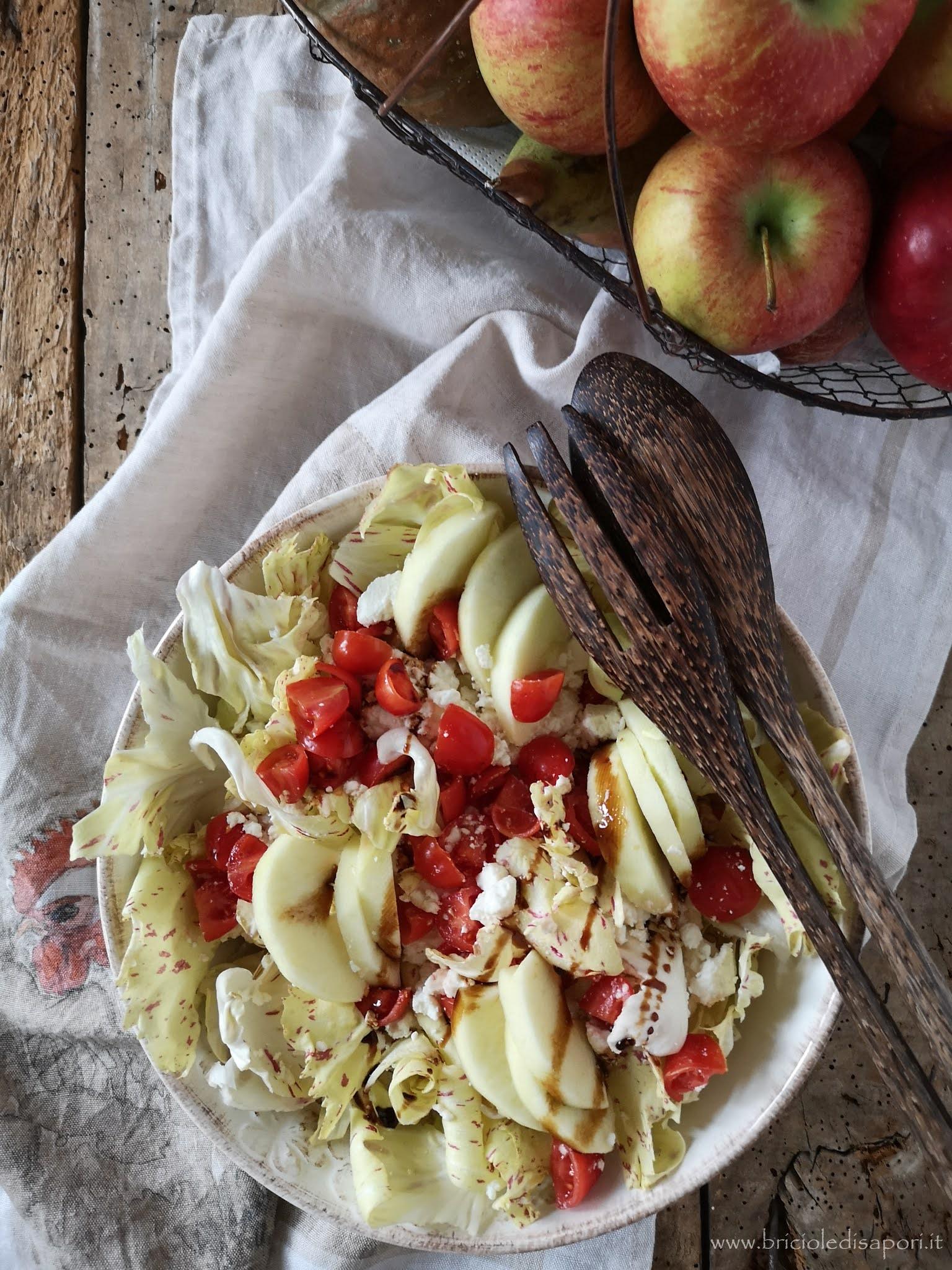 insalata con pomodorini mela e feta greca