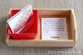 Temperature Vocabulary Cards