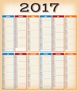 2017カレンダー無料テンプレート136