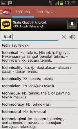 Kamus Bahasa Inggris Terbaik di HP Android