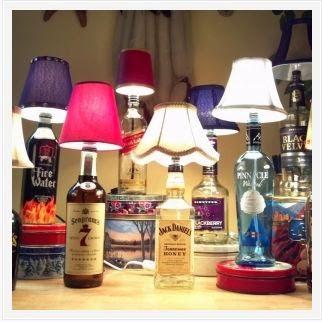 40 μαγικά φωτιστικά και κηροπήγια απο γυάλινα μπουκάλια.ΙΔΕΕΣ-ΚΑΤΑΣΚΕΥΕΣ