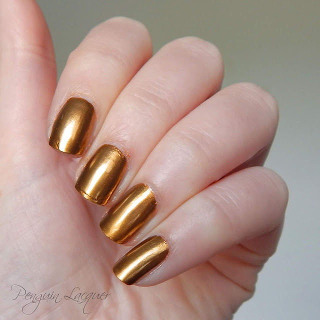 p2 motown glam chromatic nail powder gold nah zweites bild