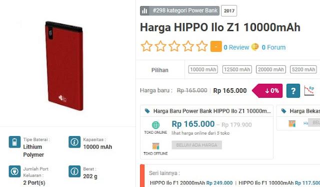 Power bank terbaik dan terkuat - Hippo Power Bank 10000 mAh