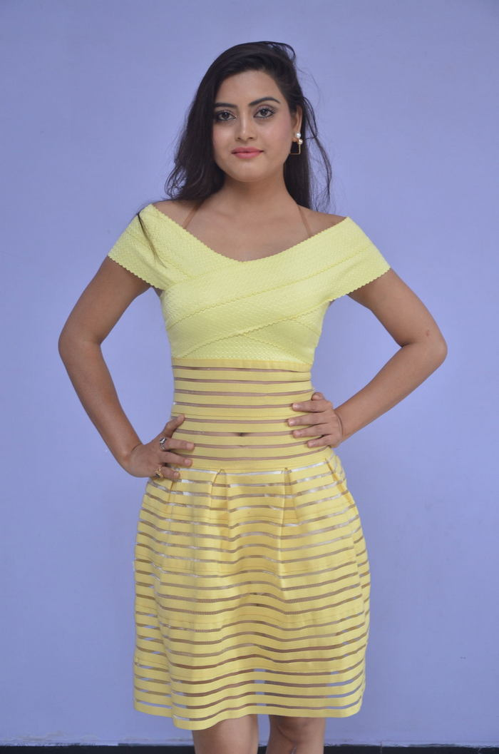 Telugu Actress Shipra Gaur Hot Stills In Yellow Dress