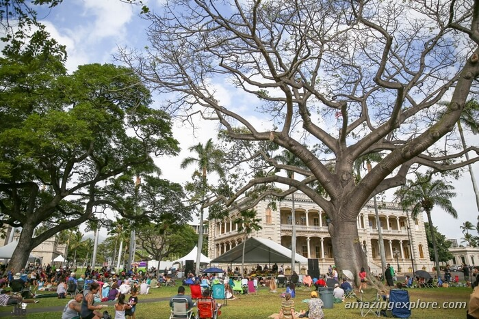 Annual Ola Ka Hā Celebration struck a chord at The grounds of the former royal palace with the sweet sound of Hawaiian music, Iolani Palace.  Best Honolulu-Oahu Attractions - Things to Do in Honolulu-Oahu