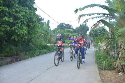 Kapolda Jambi Pimpin Patroli Kamtibmas Dengan Bersepeda