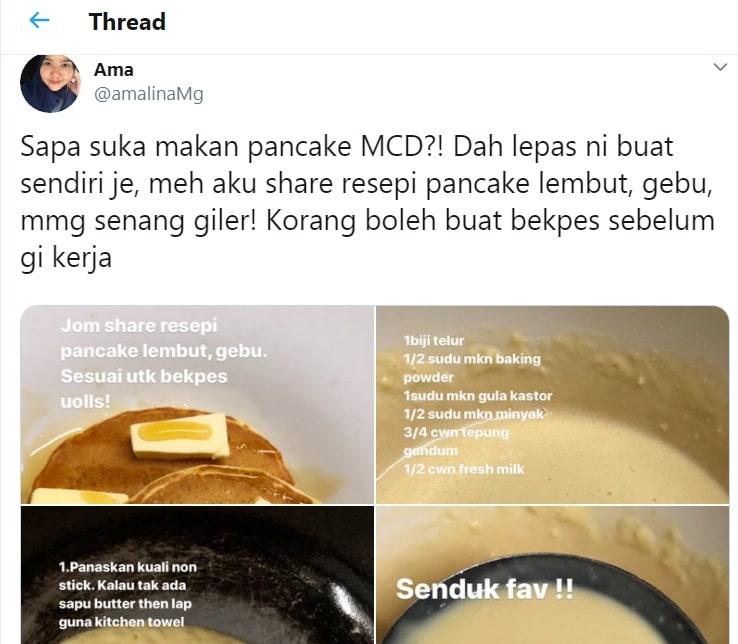 resepi pancake mcd mudah simple