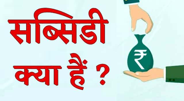 सब्सिडी क्या है? (What is subsidy in Hindi)