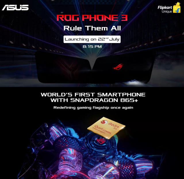 Asus ROG Phone 3 To Be Launch With Snapdragon 865+, 16GB RAM, 5G, 6000mAh Battery & More