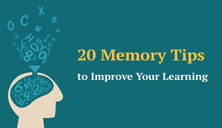 20 Memory Tips to Improve Your Learning #infographic