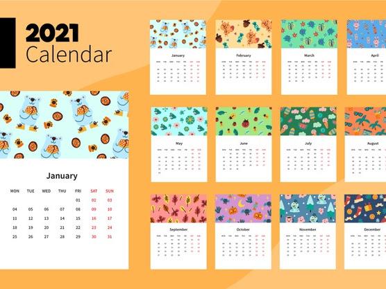 calendario de oso 2021